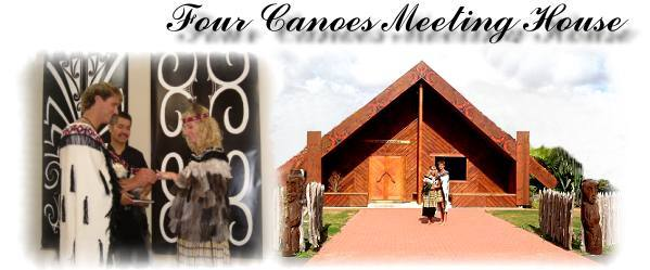 Traditional Maori Weddings Rotorua - Four canoes Meeting House